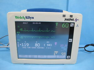 Welch Allyn Propaq Cs Patient Monitor 242 With Nellcor Spo2 Nibp Ecg