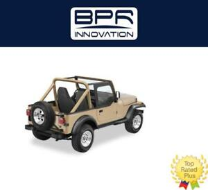 Bestop For 88 95 Jeep Wrangler Upper Door Skins Set Black Denim 53120 15