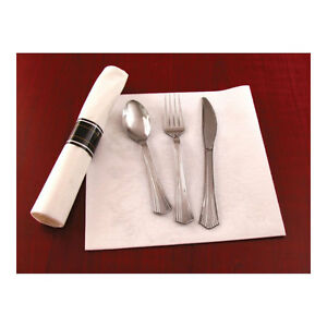 600 Pieces Reflections Plastic Silver Fork knife spoon 200 Sets