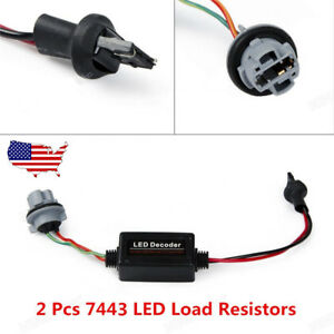 7443 T20 Led Decoder Warning Error Free Load Resistor No Flash Switchback Lights