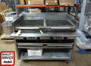 Magikitch n Fm smb 48 Commercial Lava Rock Gas Charbroiler