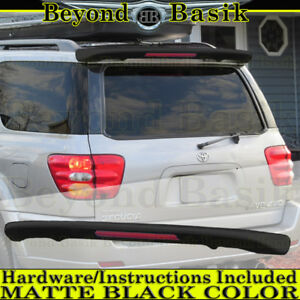 2001 2007 Toyota Sequoia Matte Black Factory Style Spoiler Roof Wing W Led Light