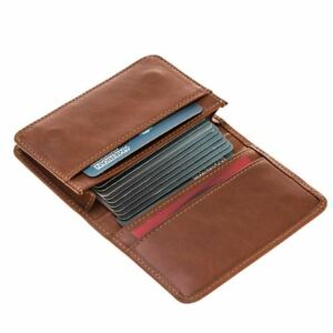 Burkley Case Credit Card Wallet Business Card Holder In Burnished Tan Leather