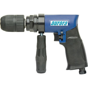 Aurora Tools 1 2 Air Reversible Drill Two gear Structure 4 Cfm 450rpm