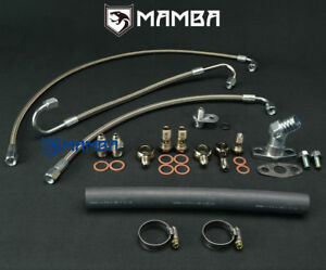 Mamba Turbo Oil Water Line Vw Golf Gti Mk6 2 0t Tfsi W Garrett Gt28r Gt30r