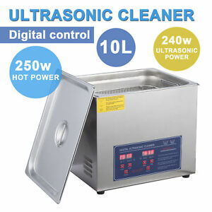 300w Ultrasonic Cleaner 10l Jewelry Cleaning Machine Stainless Steel W timer