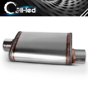 Universal Single 3 Inch Inlet Outlet Performance Exhaust Muffler Silencer