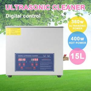 400w Ultrasonic Cleaner 15l Jewelry Cleaning Machine Stainless Steel W timer