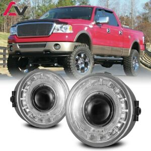 For Ford F 150 06 10 Clear Lens Pair Bumper Fog Light Lamp Halo Projector Dot