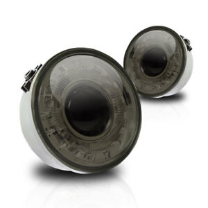 06 10 For Ford Lincoln Smoke Lens Pair Bumper Fog Light Lamp Halo Projector Dot