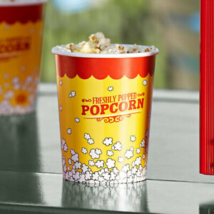 32 Oz Round Paper Movie Theatre Concession Popcorn Cup 500 Case