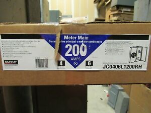 Murray 200 Amp 1 Ringless Meter Socket W 6 Circuit Load Center New