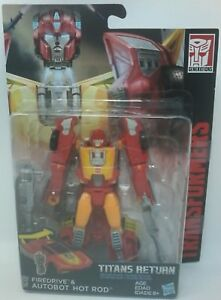 Hasbro Transformers Titans Return Deluxe Class Firedrive & Autobot Hot Rod $21.95