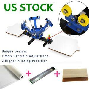 Usa 4 Color 2 Station Silk Screen Printing Machine Press Diy T shirt Printing