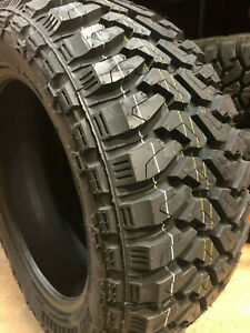 4 New 33x12 50r20 Centennial Dirt Commander M T 12 Ply Mud Tires 33 12 50 20 R20