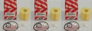 Toyota Genuine Parts 04152 Yzza1 Oil Filter Set Of 3
