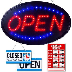 Large Led Neon Open Sign For Business By Ultima Led 23 X 14 Model 3