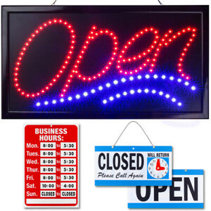 Led Neon Open Sign 24 X 13 By Ultima Led Bundle For Business Includes 3 Signs