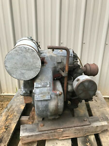 Antique Sachs Vintage Motor W Hand Crank Stationary Engine fastenal Shipping