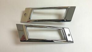 1968 Impala Belair Rear Chrome Marker Light Lens Chrome Bezel Assembly Pair