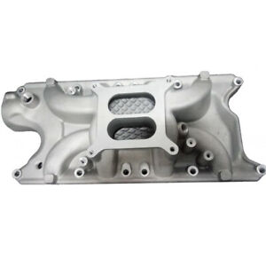 Intake Manifold Small Block For Chevy Sbc 350 383 305 327 High Rise Dual Plane