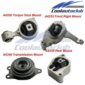 Engine Motor W Trans Mount For 07 12 Nissan Altima 2 5l Auto Cvt Trans 4pcs