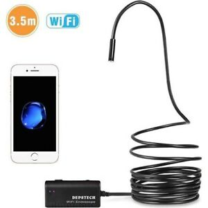 Wireless Endoscope Depstech Wifi Borescope Inspection Camera 2 0 Megapixels