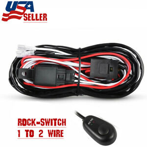 Car Wiring Harness Kit 12v 40a Fuse Relay On Off Switch Led Pods Work Light Bar