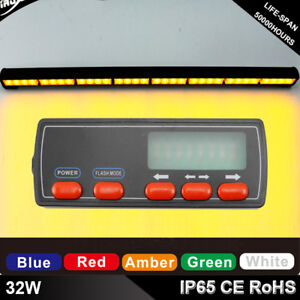 32w Led Car Led Strobe Flashing Light Traffic Advisor Light Vehicle Amber