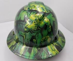 Hard Hat Full Brim Custom Hydro Dipped Osha Approved Green Hulk New Killer