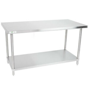 30 X 60 Stainless Steel Nsf Commercial Kitchen Work Table With Undershelf