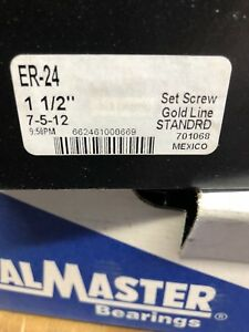 Sealmaster Er 24 1 1 2 Bore Bearing Insert New