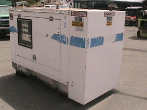 60 Kw Single Or 3 Phase Generator With Only 335 Hours 110 120 208 Volts