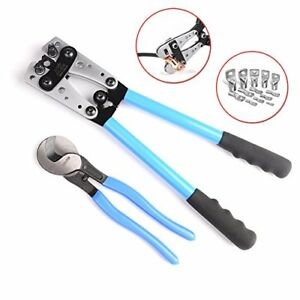 Iwiss Cable Lug Crimping Tools Hand Electrician Pliers For Crimping Wire Cable F