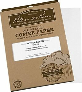 Rite In The Rain All weather Copier Paper 8 1 2 X 11 20 White 200 Sheet Pa