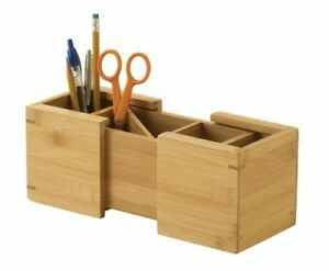 Lipper International 807 Bamboo Wood Expandable Pencil And Office Supply Holder