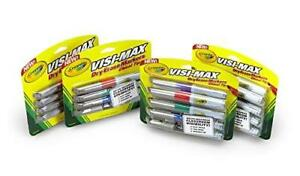 Crayola Visi max Dry erase Markers Art Tools 24 Ct Broad Line Chisel Tip