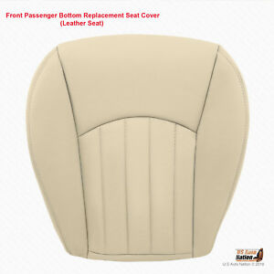 2002 2008 Jaguar X Type Passenger Bottom Replacement Leather Seat Cover Tan