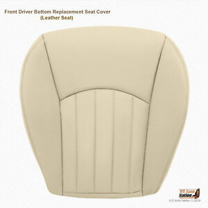 2005 2006 Jaguar X Type Front Driver Bottom Replacement Leather Seat Cover Tan