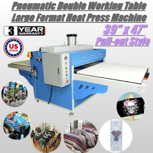 220v 39 X 47 Pneumatic Double Working Table Large Format Heat Press Machine