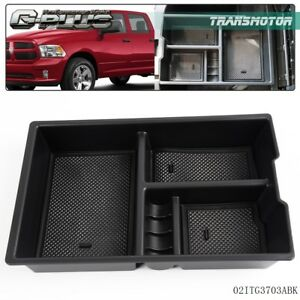 For 2009 2017 Dodge Ram 1500 Center Console Organizer Armrest Storage Box Tray