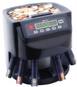 Coin Counter And Sorter Commercial Motorized Automatic Machine Money Wrapper New