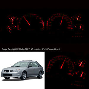 Red Dashboard Instrument Cluster Gauge Led Light Bulbs For 02 07 Subaru Impreza