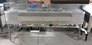 Used Lacrosse 3 Compartment Underbar Sink With Drainboards