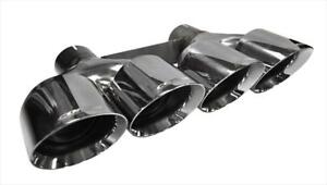 Corsa Ss Round Angle Cut Dual Clamp on 4 5 Polished Tip For Corvette C7 6 2l