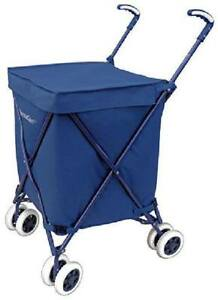 Folding Shopping Cart Heavy Duty Luggage Wheels Trolley Hand Truck Laundry Cart