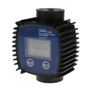 Lcd Turbine Digital Flow Meter For Diesel Fuel Oil Urea Chemical Liquid 1