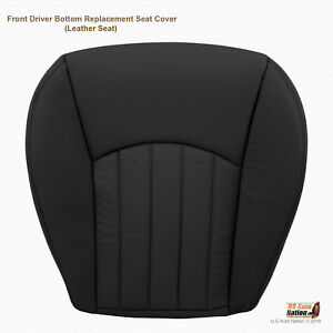 2003 2004 Jaguar X Type Front Driver Bottom Replacement Leather Seat Cover Black