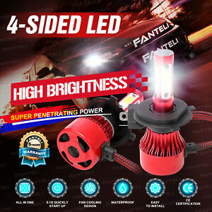 Cree H4 Hb2 9003 2240w 336000lm 4 Sided Led Headlight Kit Hi Lo Power Bulb 6000k