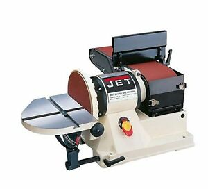 JET 9.2-Amp Bench Top Quick-Release Belt and Disc Sander Home Power Hand Tool
